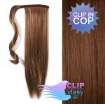 Clip in cop 60 cm kanekalon - středně hnědá #6