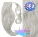Clip in cop 60 cm kanekalon - stříbrná