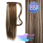 Clip in cop 50cm - melír blond a čokoládově hnědá #4/613
