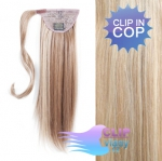 Clip in cop 50cm - melír popelavě a beach blond #18/613