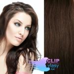 Clip in vlasy REMY 50cm - čokoládově hnědá #4