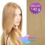 DELUXE 40cm clip in vlasy REMY - přírodní blond #22