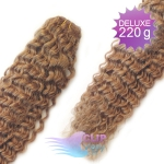 Kudrnaté DELUXE clip in vlasy REMY 50cm - světle hnědá #12