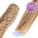 Kudrnaté DELUXE clip in vlasy REMY 50cm - přírodní blond #22