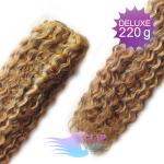 Kudrnaté DELUXE clip in vlasy REMY 50cm - světlý melír #12/613
