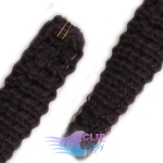 Kudrnaté clip in vlasy REMY 50cm - přírodní černá #1b