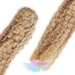 Kudrnaté clip in vlasy REMY 50cm - přírodní blond #22
