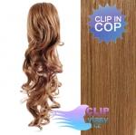 Kudrnatý clip in cop 60 cm kanekalon - světle hnědá #12