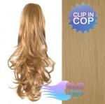 Kudrnatý clip in cop 60 cm kanekalon - přírodní blond #22