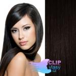 Tape in 40cm vlasy REMY - přírodní černá #1b