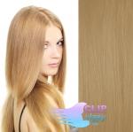 Tape in 60cm vlasy REMY - přírodní blond #22