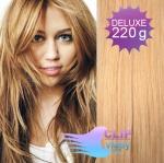 Vlnité DELUXE clip in vlasy REMY 50cm - melír přírodní a světlejší blond #18/22