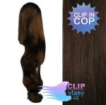 Vlnitý clip in cop 60 cm kanekalon - tmavě hnědá #2