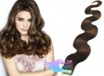 Vlnité tape in 60cm vlasy REMY - středně hnědá #4