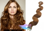 Vlnité tape in 60cm vlasy REMY - světle hnědá #12