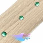 Zelené kamínky do vlasů